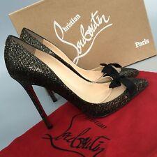 Christian Louboutin Love Me 120 Lady Pigalle Glitter Follies Heel Shoe Size 37.5