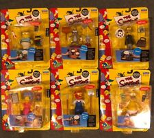 The Simpsons Playmates Series 4 COMPLETE Set of (6) Figures Carded
