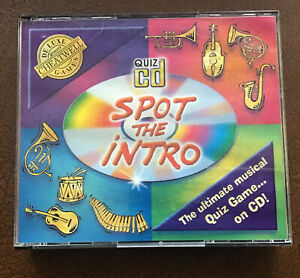 CHEATWELL GAMES, QUIZ CD SPOT THE INTRO. THE ULTIMATE MUSICAL RECOGNITION GAME.