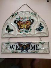 Butterfly Welcome Sun Catcher