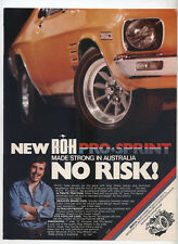 ROH Pro-Sprint Mag Wheels HQ Holden Monaro Advertisement Removed from a Magazine