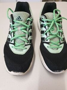 Adidas Ladies Trainer USA Size 8.5, Black And Green