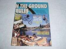 Nos Original Vintage Bmx Plus! Magazine September 1991 Vol. 14 No. 9