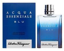 ACQUA ESSENZIALE BLU by Salvatore Ferragamo for men 3.4 oz 3.3 edt New in Box