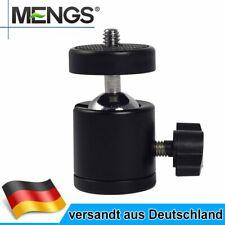 MENGS Mini Kugelkopf Stativkopf Für Universal Kamera und Blitzlicht Halterung