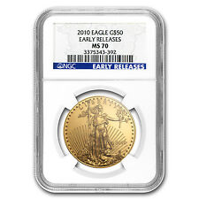 2010 1 oz Gold American Eagle MS-70 NGC (Early Releases) - SKU #61320