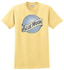 Blue Moon Beer T-shirt Gray, Khaki, White, Yellow. S thru XXXL. 100% Cool Cotton