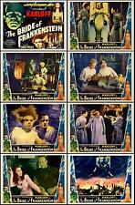 THE BRIDE OF FRANKENSTEIN COMPLETE SET OF 8 INDIVIDUAL 8x10 LC PRINTS 1935