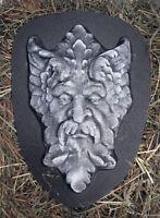 Horn Green man plastic mold plaster concrete casting