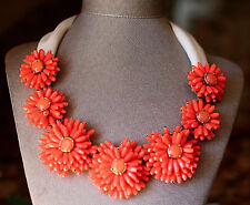 Kate Spade Gerbera Garden Necklace Orange Coral Petals Daisy Chain Modern Chic