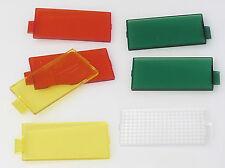 (PRL) SET 5 FILTRI FILTERS FILTRES COLORE COLORI COLORS FLASH 6 x 3 cm SPARE