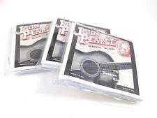 John Pearse Guitar Strings 3 Pack  Acoustic  Bluegrass #650 Phosphor Bronze