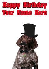 German Short hair Pointer pps95 Squire Posh Paws Cute Personalised Birthday Card