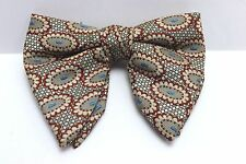 Vintage Original 1960's-70's Retro Mens Clip-On Bow Tie Paisley Novelty