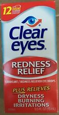 Clear Eyes Redness Relief Eye Drops 0.5oz  expiration date 3/2021
