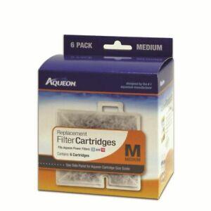 Aqueon Cartridge 6pack Medium for QuietFlow Led 10, Powerfilter 10, Replacement