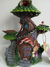 More details for large fairy village tree top magical spa  house 25.5cm nemesis now boxed