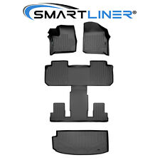 Smartliner Floor Mats / Cargo Liner Set Black For 18-20 Traverse W/ Bucket Seats