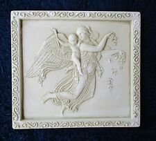 MOTHER & CHILD ANGELS CHALKWARE SMALL WALL HANGING