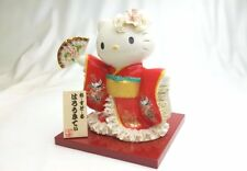 Kimono Maiko Hello Kitty Ceramic Lace Doll Deluxe Red Porcelain Figures Japan