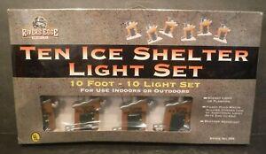 New Rivers Edge Ten Ice Shelter / Ice Fishing Light Set Indoor/Outdoor Ten Foot