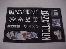 """Led Zeppelin """"Houses of The Holy / Zoso (4)"""" Brand NEW set of 8 Stickers - PROMO"""