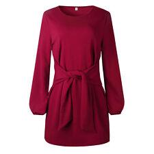 2019 Autumn Winter New Womens Mini Dress Ladies Casual Party Short Dress Tops