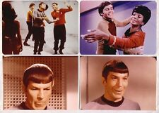 LOT 2: FOUR MORE STAR TREK BLOOPERS 8x10 color photos, Leonard Nimoy
