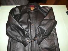 I.C. LEATHERWORKS Genuine Leather full zipper Bomber Jacket M
