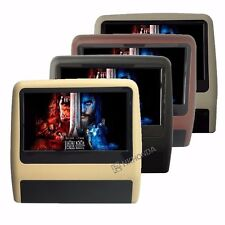 "2Pcs 9"" Inch HD TFT Screen Car Headrest monitor 2X DVD Player USB SD MP3 Games"