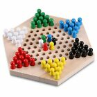 Wooden Chinese Checkers Hexagon Board Game with wooden Marbles