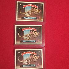 3 Garbage Pail Kids Trading Cards Dinah Saur 88A Farrah Fossil 88B Second Series