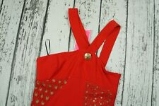 BNWT VERSACE for H&M Red Lace Silk Dress Small EU 36 / US 6 Gold buttons
