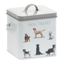 Macneil Dog Treats Storage Tin Dry Pet Food Biscuits Puppy Retro Container Box