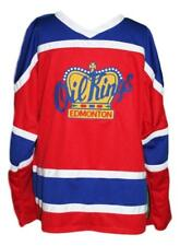 Custom Name   Edmonton Oil Kings Retro Hockey Jersey New Red Any Size 276719add