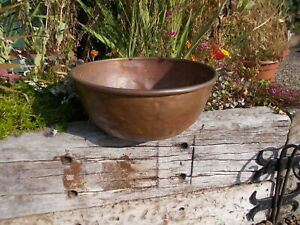 Very Large Weathered French Vintage Copper Jam Pan T21/427