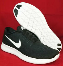 NIB NIKE Mens 11 FREE RN BLACK WHITE 831508 001 RUNNING CASUAL SHOES MSRP $100