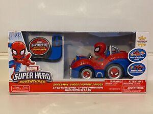 NEW Marvel Super Hero Adventures Spider-Man Buggy With Radio Remote Control