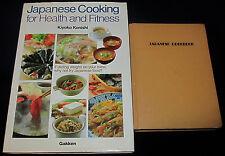 2 Japanese HC JAPANESE COOKING HEALTH FITNESS Konishi '83 JAPANESE COOKBOOK 1971