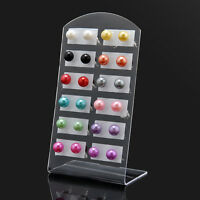 Nice Women's Multi-color 12Pairs/Set Ear Stud Pearl Round Ball Earring Jewelry