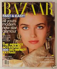 PAULINA PORIZKOVA vtg HARPER'S BAZAAR magazine November 1987 Harpers US American