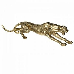 XXL Cheetah 145cm Gold from Poly Leopard Tiger Panther Chrome Decoration New