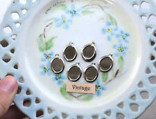 #831SS Vintage metal Settings Oval Setting Silver Plate 10x8mm Cabochon Findings