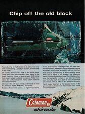1970 Coleman SKIROULE Snowmobile VTG PRINT AD