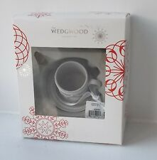 Rare Wedgwood Grey Jasper Teacup & Saucer Xmas Tree Decoration - New and Boxed