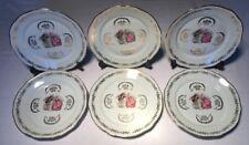 Lot1 De 6 Grandes Assiettes En Porcelaine Signée F D CHAUVIGNY D 23,5 Cm