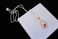 Silver Ruby Fashion Jewellery