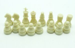 Chess Replacement Pieces Magnetic Ivory Set 5 in 1 Travel Game Parts Plastic