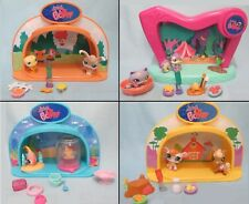 Littlest Pet Shop Lot Random Dome Playset and 2 Pets 5 Accessories Lights Up