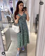 Motel Rocks Green Floral Maxi Dress Size L